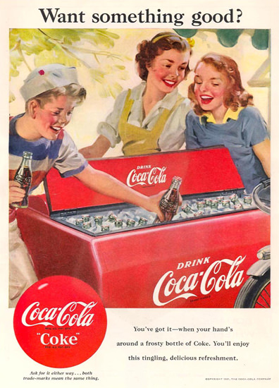 Coca-Cola Coke Icebox 1951 | Vintage Ad and Cover Art 1891-1970