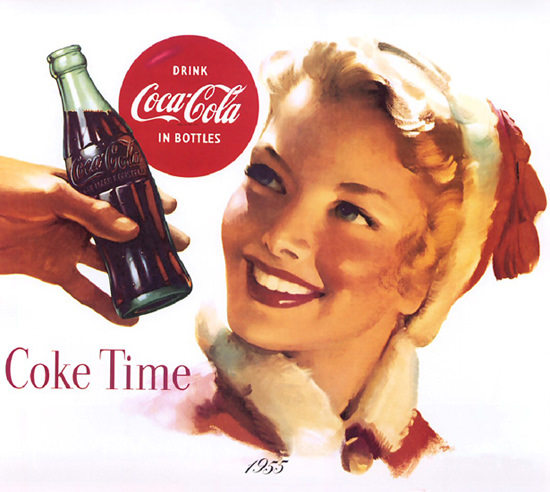 Coca-Cola Coke Time 1955 | Sex Appeal Vintage Ads and Covers 1891-1970