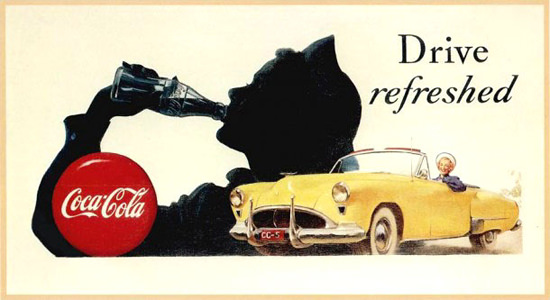 Coca-Cola Drive Refreshed Gil Elvgren | Vintage Ad and Cover Art 1891-1970