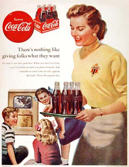 Coca-Cola For The Kids 1952 What They Want   Vintage Ad and Cover Art 1891-1970