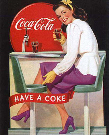 Coca-Cola Have A Coke Bar Pub | Sex Appeal Vintage Ads and Covers 1891-1970