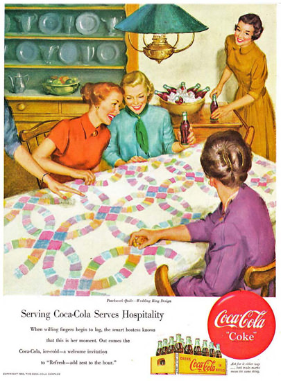 Coca-Cola Home Serving Coke Serves Hospitality | Vintage Ad and Cover Art 1891-1970