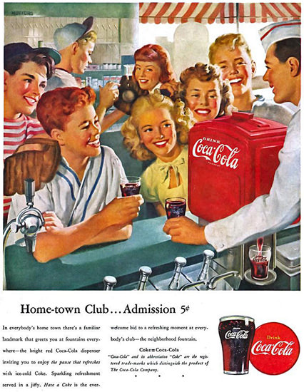 Coca-Cola Home-Town Club Kids Coke | Vintage Ad and Cover Art 1891-1970