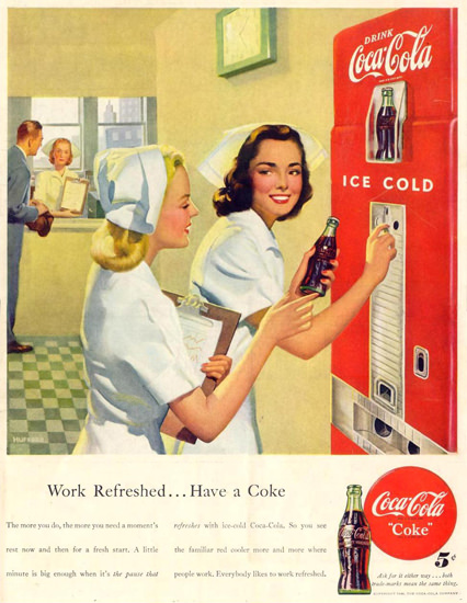 Coca-Cola Hospital Nurses 1948 | Sex Appeal Vintage Ads and Covers 1891-1970