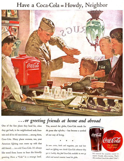 Coca-Cola Howdy Neighbor Have A Coke | Vintage Ad and Cover Art 1891-1970