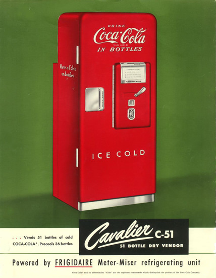 Coca-Cola Ice Cold Refrigerator   Vintage Ad and Cover Art 1891-1970