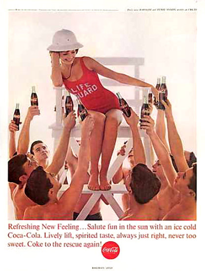 Coca-Cola Life Guard Girl 1963 | Sex Appeal Vintage Ads and Covers 1891-1970