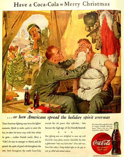 Coca-Cola Merry Christmas Overseas Have Coke | Vintage War Propaganda Posters 1891-1970