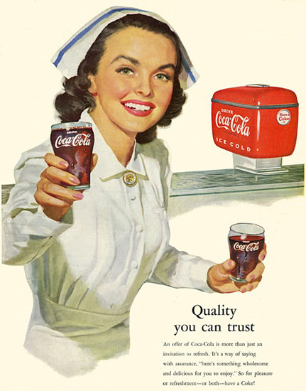Coca-Cola Nurse Refreshes | Sex Appeal Vintage Ads and Covers 1891-1970