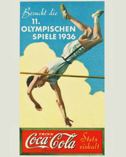 Coca-Cola Olympic Games Berlin Germany 1936 | Vintage Ad and Cover Art 1891-1970