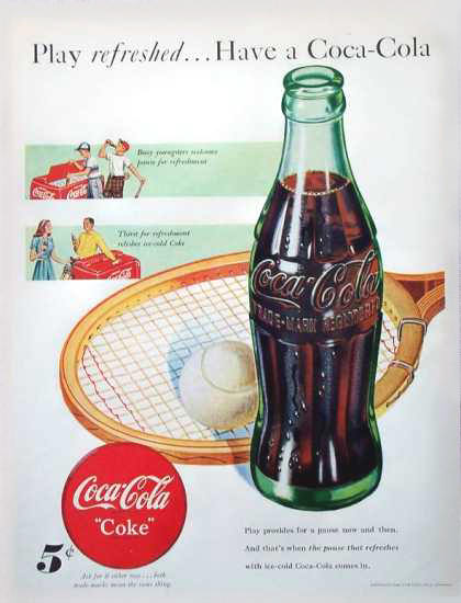 Coca-Cola Tennis 1948 | Vintage Ad and Cover Art 1891-1970