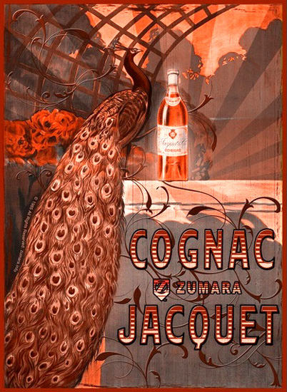 Cognac Jacquet Peacock Red | Vintage Ad and Cover Art 1891-1970