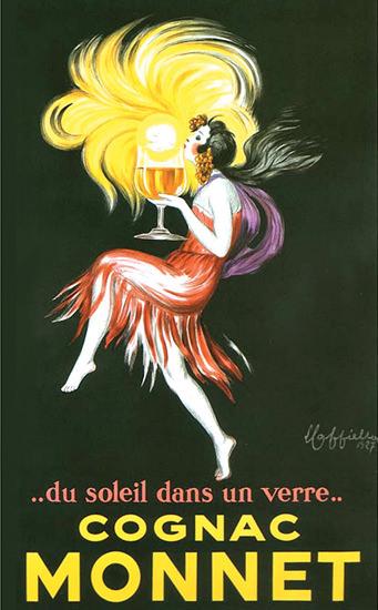 Cognac Monnet Dancer Du Soleil Dans Un Verre 1927 | Sex Appeal Vintage Ads and Covers 1891-1970