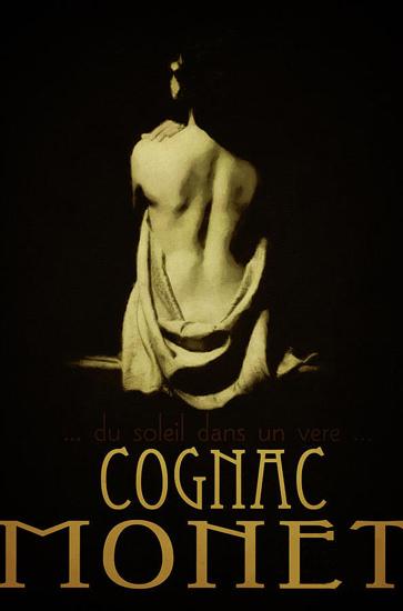 Cognac Monnet Nude | Sex Appeal Vintage Ads and Covers 1891-1970