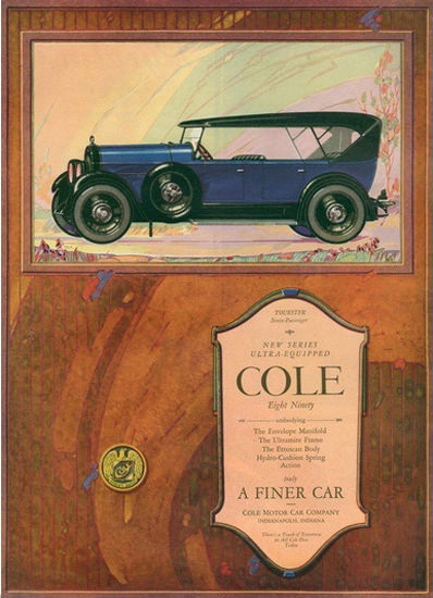 Cole Eight Ninety Auto Indianapolis Indiana | Vintage Cars 1891-1970