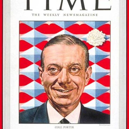 Cole Porter Time Magazine 1949-01 by Boris Chaliapin crop | Best of Vintage Cover Art 1900-1970