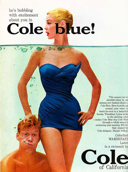 Cole Swim Suit Cole Blue Of California | Sex Appeal Vintage Ads and Covers 1891-1970