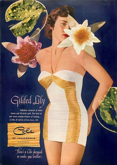 Cole Swim Suit Gilded Lily California | Sex Appeal Vintage Ads and Covers 1891-1970