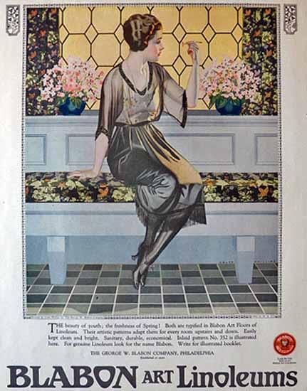 Coles Phillips Blabon Art Linoleums 1921 Sex Appeal   Sex Appeal Vintage Ads and Covers 1891-1970