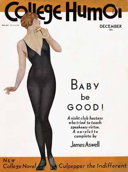 Coles Phillips College Humor Baby be GOOD Sex Appeal | Sex Appeal Vintage Ads and Covers 1891-1970