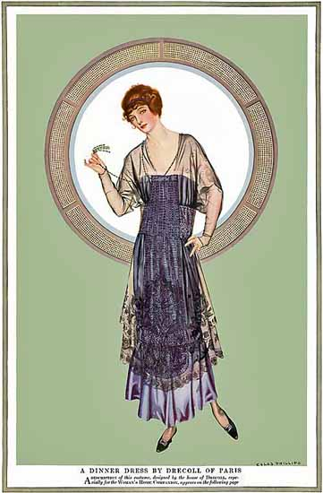 Coles Phillips Drecoll of Paris Dinner Dress 1915 Sex Appeal | Sex Appeal Vintage Ads and Covers 1891-1970
