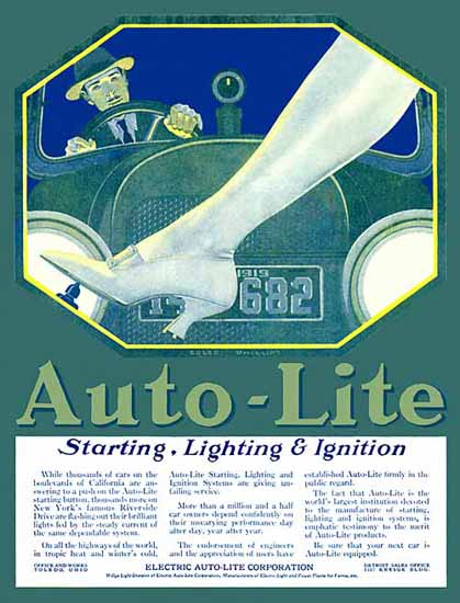 Coles Phillips Electric Auto-Lite Co Lighting 1919 Sex Appeal   Sex Appeal Vintage Ads and Covers 1891-1970