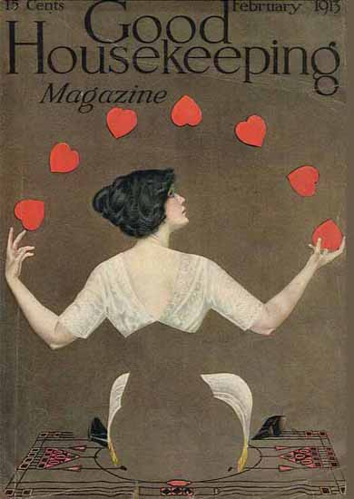 Coles Phillips Good Housekeeping February 1913 Copyright Sex Appeal   Sex Appeal Vintage Ads and Covers 1891-1970