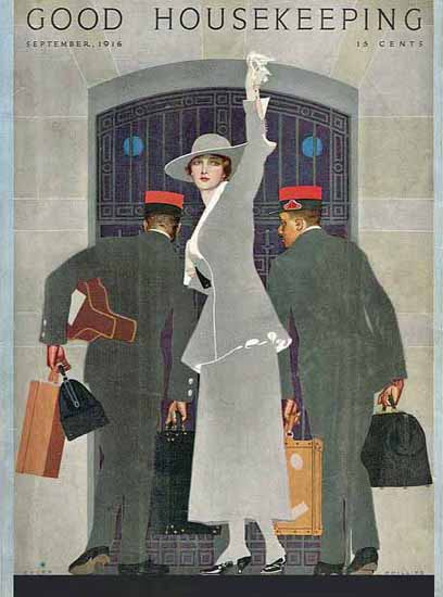 Coles Phillips Good Housekeeping Sept 1916 Copyright Sex Appeal   Sex Appeal Vintage Ads and Covers 1891-1970