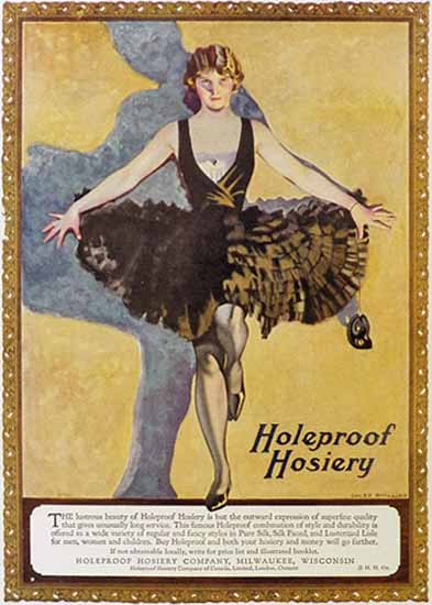 Coles Phillips Holeproof Hosiery Lustrous Beauty 1923 Sex Appeal | Sex Appeal Vintage Ads and Covers 1891-1970