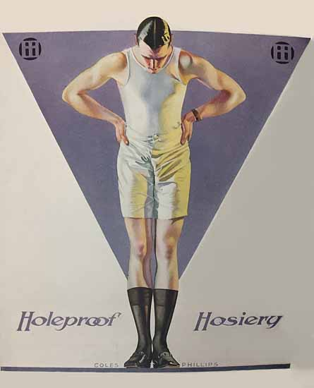 Coles Phillips Holeproof Hosiery for Man Sex Appeal | Sex Appeal Vintage Ads and Covers 1891-1970