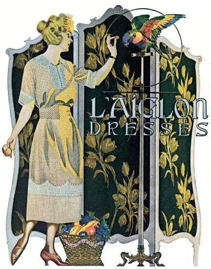 Coles Phillips LAiglon Dresses Sex Appeal | Sex Appeal Vintage Ads and Covers 1891-1970