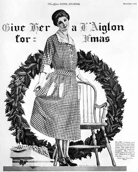 Coles Phillips Ladies Home Journal Christmas 1922 Copyright Sex Appeal | Sex Appeal Vintage Ads and Covers 1891-1970