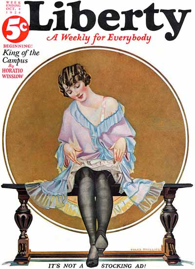 Coles Phillips Liberty Magazine October 4 1924 Sex Appeal | Sex Appeal Vintage Ads and Covers 1891-1970