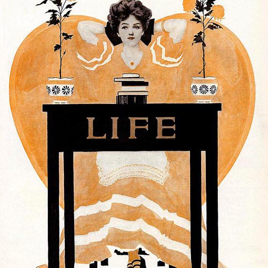 Coles Phillips Life Humor Magazine 1908-05-21 Copyright crop | Best of Vintage Cover Art 1900-1970