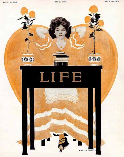 Coles Phillips Life Humor Magazine 1908-05-21 Copyright | Life Magazine Graphic Art Covers 1891-1936