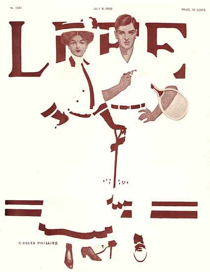 Coles Phillips Life Humor Magazine 1908-07-09 Copyright Sex Appeal | Sex Appeal Vintage Ads and Covers 1891-1970