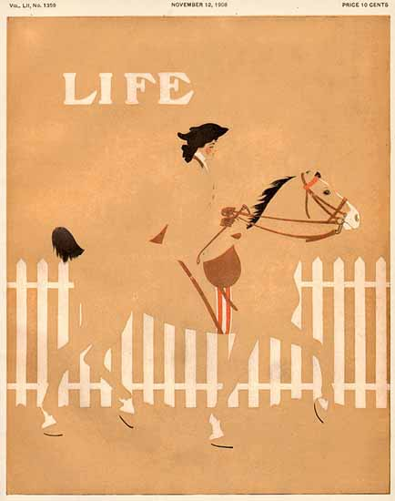 Coles Phillips Life Humor Magazine 1908-11-12 Copyright Sex Appeal | Sex Appeal Vintage Ads and Covers 1891-1970
