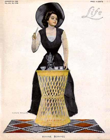 Coles Phillips Life Humor Magazine 1909-01-28 Copyright | Life Magazine Graphic Art Covers 1891-1936