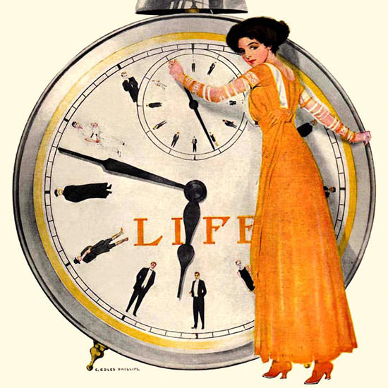 Coles Phillips Life Humor Magazine 1909-08-05 Copyright crop | Best of Vintage Cover Art 1900-1970