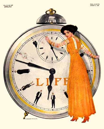Coles Phillips Life Humor Magazine 1909-08-05 Copyright | Life Magazine Graphic Art Covers 1891-1936