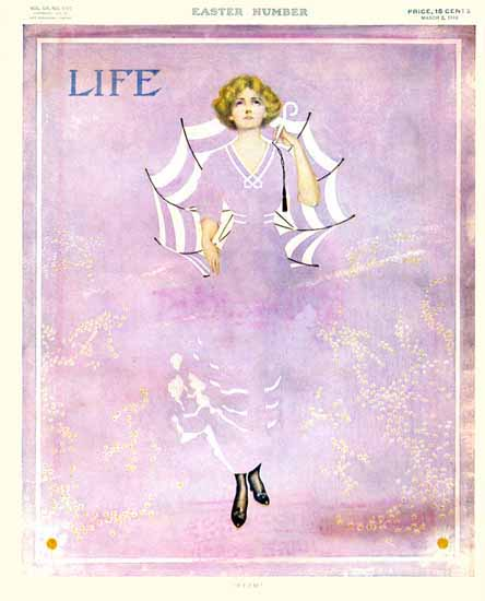 Coles Phillips Life Humor Magazine 1910-03-03 Copyright Sex Appeal | Sex Appeal Vintage Ads and Covers 1891-1970