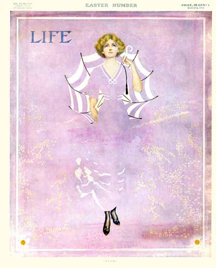 Coles Phillips Life Humor Magazine 1910-03-03 Copyright | Life Magazine Graphic Art Covers 1891-1936