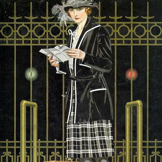 Coles Phillips Life Magazine Bag N Baggage 1921-12-15 Copyright crop | Best of Vintage Cover Art 1900-1970