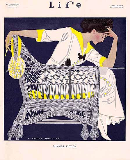 Coles Phillips Life Magazine Fiction 1911-09-14 Copyright Sex Appeal | Sex Appeal Vintage Ads and Covers 1891-1970
