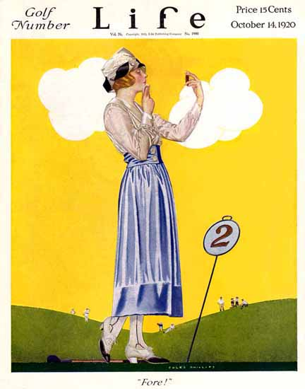 Coles Phillips Life Magazine Fore 1920-10-14 Copyright Sex Appeal | Sex Appeal Vintage Ads and Covers 1891-1970