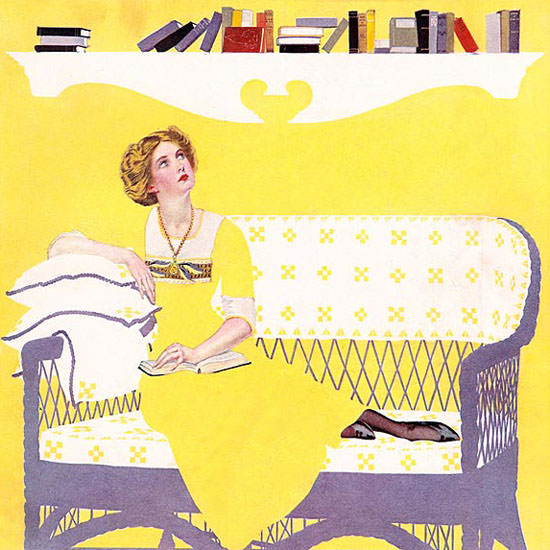Coles Phillips Life Magazine Highbrowsings 1912-06-13 Copyright crop   Best of Vintage Cover Art 1900-1970