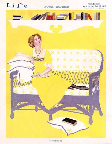Coles Phillips Life Magazine Highbrowsings 1912-06-13 Copyright | Life Magazine Graphic Art Covers 1891-1936
