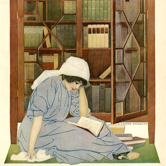 Coles Phillips Life Magazine Lurre of Books 1911-06-08 Copyright crop | Best of Vintage Cover Art 1900-1970