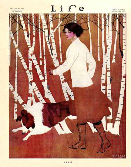 Coles Phillips Life Magazine Pals 1911-10-26 Copyright | Life Magazine Graphic Art Covers 1891-1936