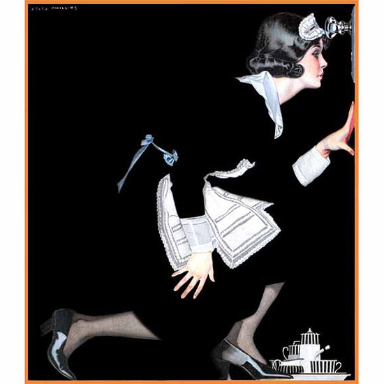 Coles Phillips Life Magazine Position to Know 1921-04-07 Copyright crop | Best of 1920s Ad and Cover Art